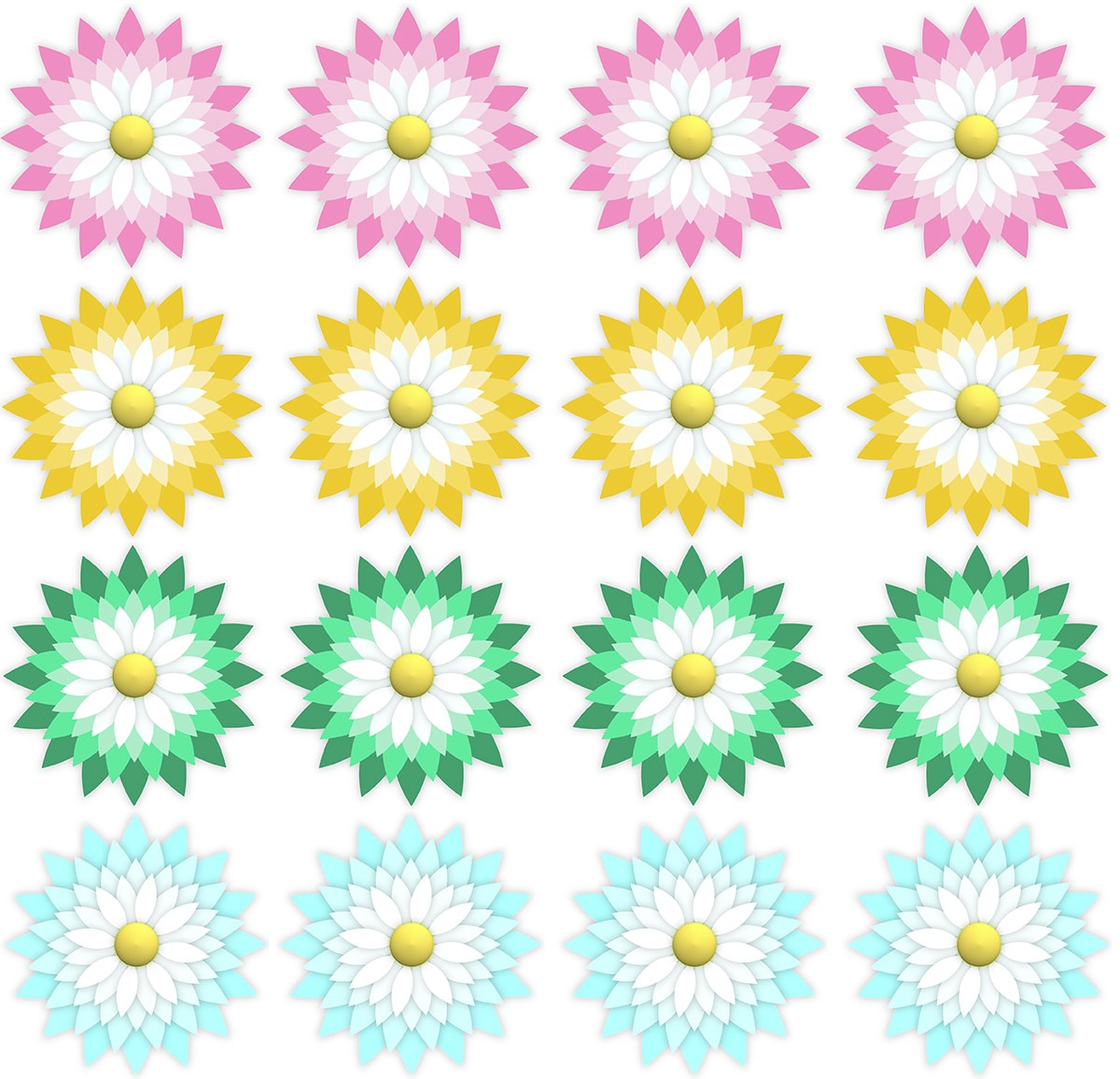 Each flower measures approximately 4″Wx4″H ...